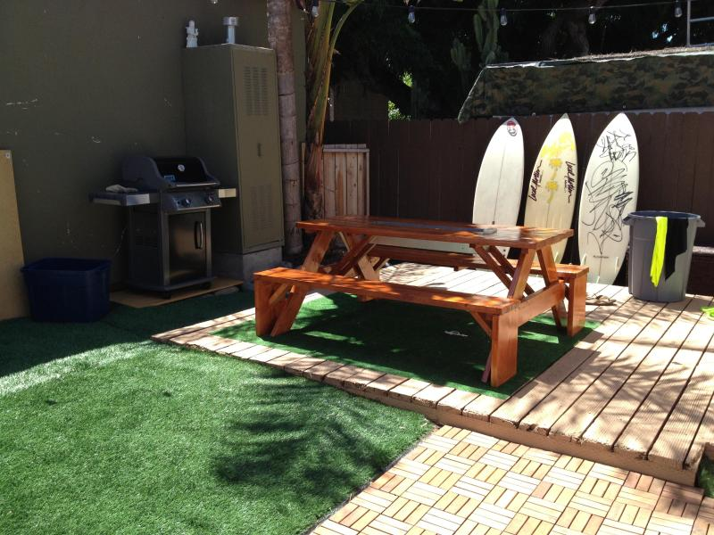 Your patio to enjoy on your trip (surfboards not included) - Awesome Ocean Beach Cottage near all SD has to offer! - Pacific Beach - rentals