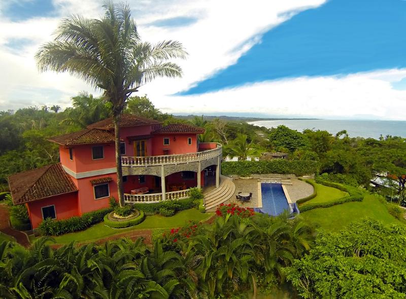 Aerial view of the villa - Private Oceanview home 5 min walk to beach w/pool - Esterillos Oeste - rentals