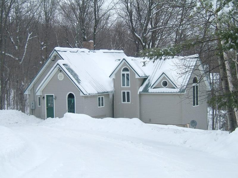 Winter from road - Walk to ski trials on Okemo! Private Luxury Chalet - Ludlow - rentals