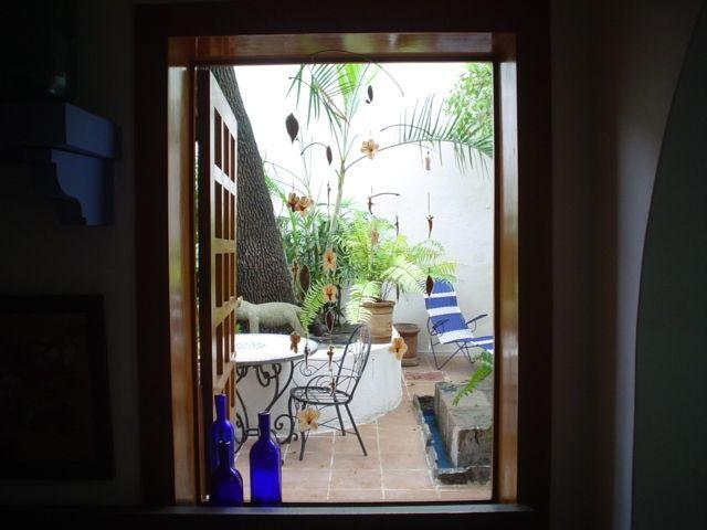 Bedroom window facing the private patio - Beautiful apartments in trendy zone of Chapultepec - Guadalajara - rentals