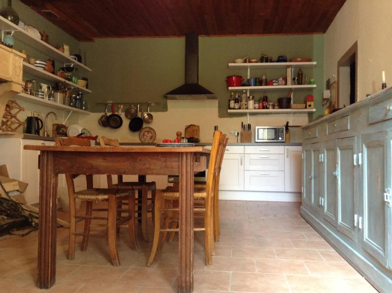 The kitchen is the heart of the house. - Old farmhouse near Dordogne River - Gardonne - rentals