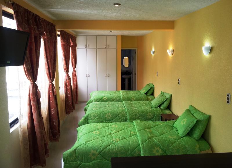 3 single beds, LED tv - Chez Elena - Triple Studio apartment - Quito - rentals