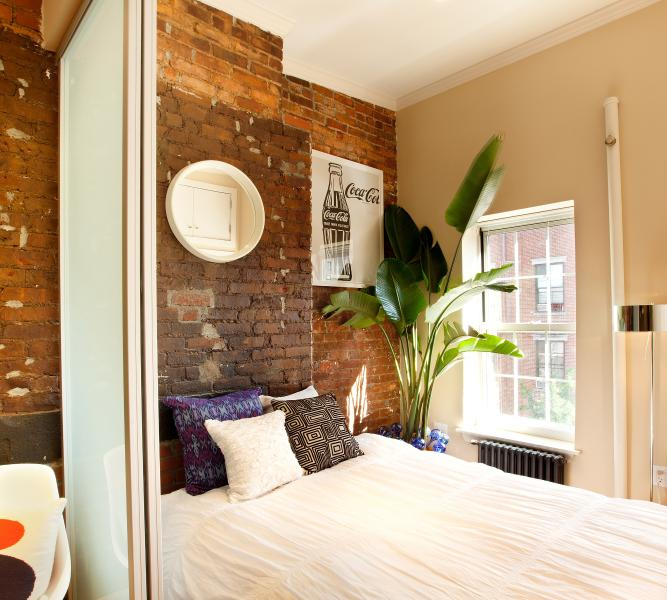 Bedroom - Vintage East Village 1-Bedroom with Exposed Brick - New York City - rentals