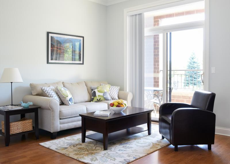 Living area with sofa bed - Save on New 2 BR/ 2 Bath w Balcony  Wrigley,Loyola - Chicago - rentals