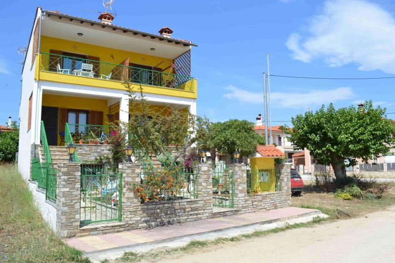 Front View of the House - Cozy Maisonette at Nikiti, Sithonia, Chalkidiki - Nikiti - rentals