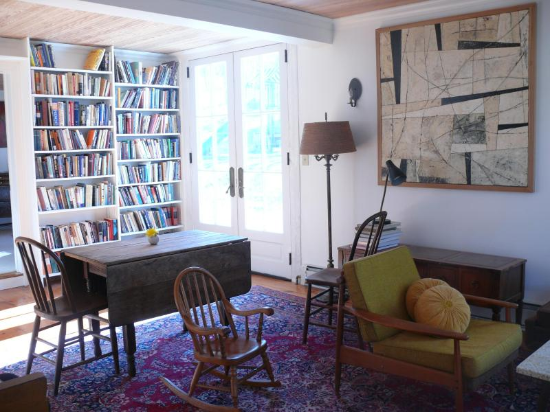 Living room/dining area is flooded with light - Private apt. in Hudson Valley eyebrow colonial - Pine Plains - rentals