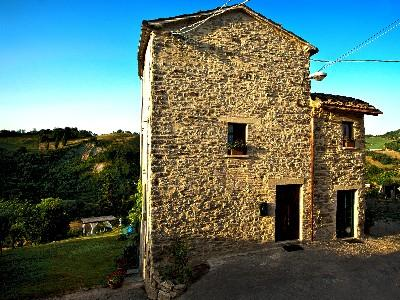 Front of your house. Built by hand in stones in the 1600's - Spectacular home on rolling hills in Montefeltro - Macerata Feltria - rentals