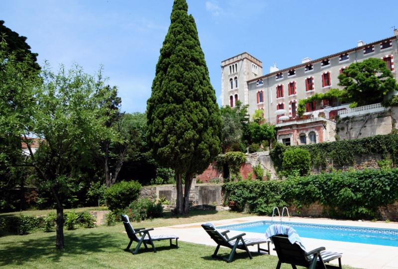 Pool and gardens with house above - Chateau Ventenac - Ventenac-en-Minervois - rentals
