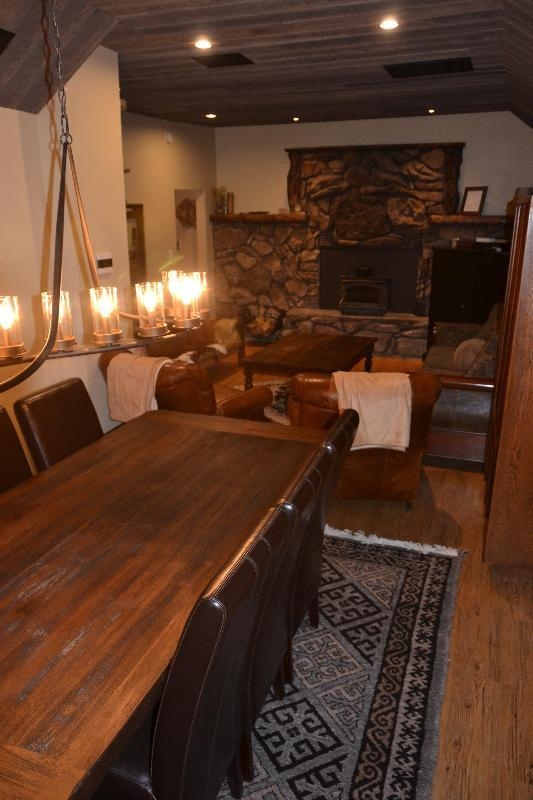 Living and dining room are open to each other - Beck Hither - Red Lodge Montana - Red Lodge - rentals