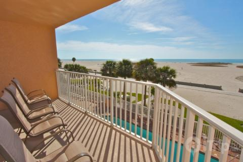 Private Beachfront Balcony - 304 - Surf Beach Resort - Treasure Island - rentals