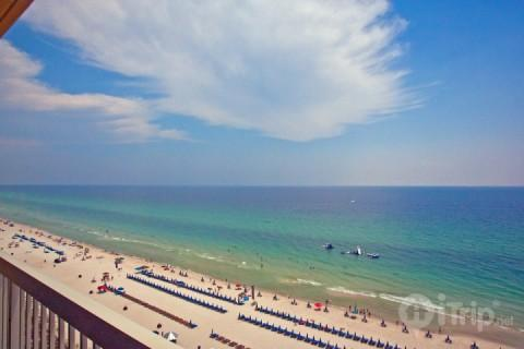 Outstanding View of Gulf from 1 Bedroom Condo at Calypso Beach Towers - Image 1 - Panama City Beach - rentals