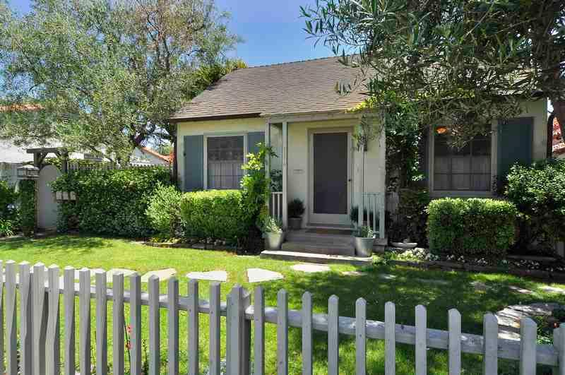 Front of Cottage.  One block off beach - California Cottage - Santa Barbara - rentals