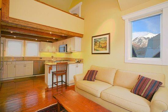 Columbine E - 1 Bedroom Plus Loft - 1 Bathroom - Sleeps 4 - Great Views from Living area - Columbine Condos, Unit E - 1 Bd + Loft / 1 Ba - Sleeps 4 - Comfortably Furnished. Views of Telluride Ski Resort. Walking Distance to Everything! - Telluride - rentals