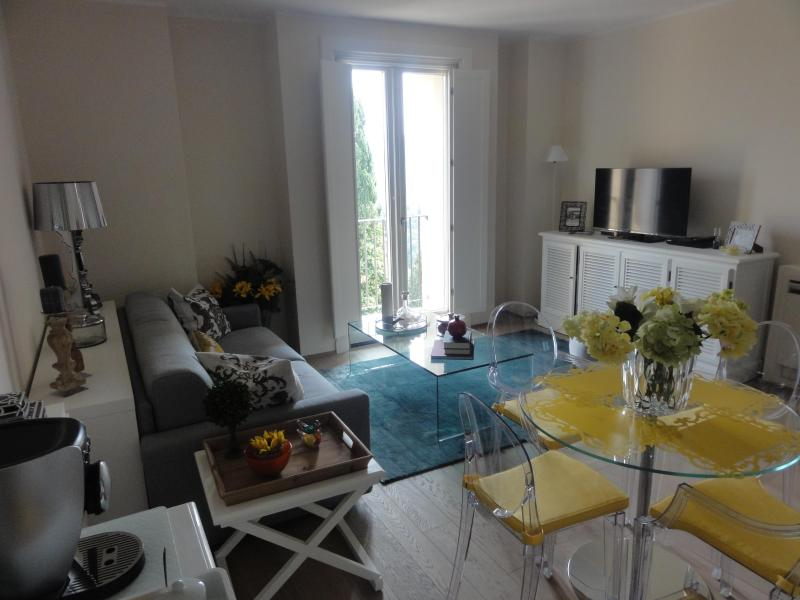living room - Tuscany Chic - air conditioned - swimming pool - 1 hr to Florence /1 hr to Siena / 20 minutes to San Gimignano - Montaione - rentals