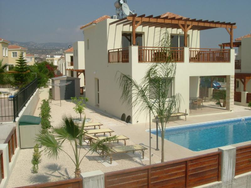 rear view of villa and bathing area - Coral Bay Paphos - Paphos - rentals