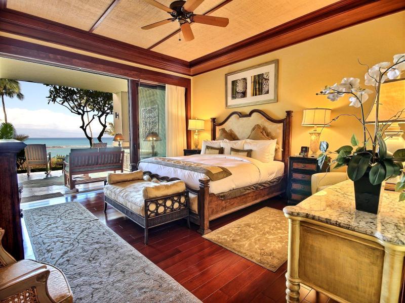 Master bedroom views to blue ocean - Montage at Kapalua Bay #Montage-King-Protea Kapalua, Maui, Hawaii - Maui - rentals