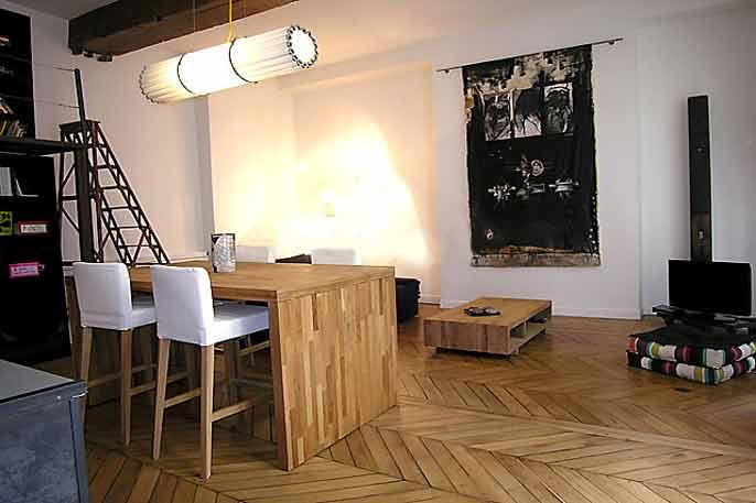 Trendy 1 Bedroom Loft at Montorgueil - Image 1 - Paris - rentals