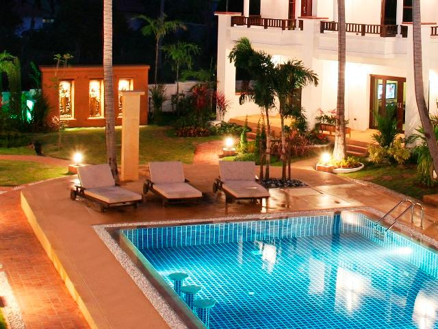 Beautiful surrounds at night - 2B s/contained villa tropical oasis convenient loc - Bophut - rentals