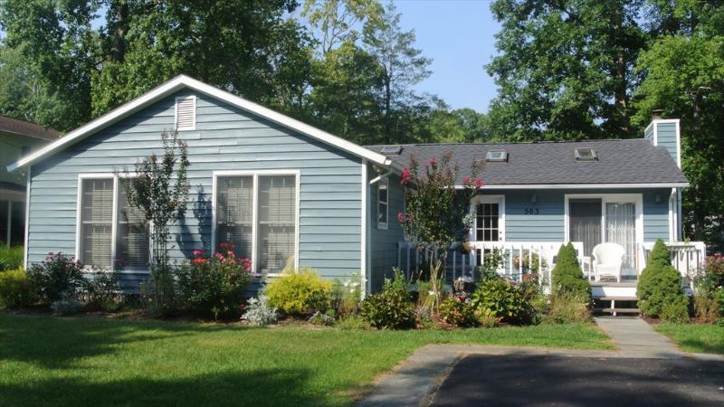Nice 4 bedroom, 3 bath home with landscaped lawn and pool access - Image 1 - Bethany Beach - rentals