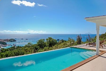 Sunlit villa Cactus with equal bedrooms with sea views, heated pool & housekeeping - Image 1 - Colombier - rentals