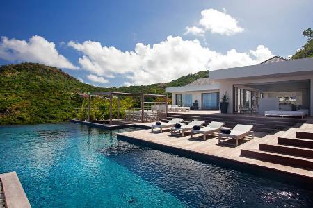 Hillside Haven Eternity with ocean view, sleek terrace, infinity & plunge pool - Image 1 - Flamands - rentals
