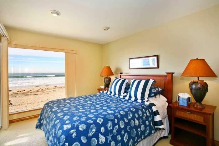 View of the Pacific from Master suite with Queen bed - Bluewater San Diego Vacation Rental - Mission Beach - Mission Beach Sunset - Pacific Beach - rentals