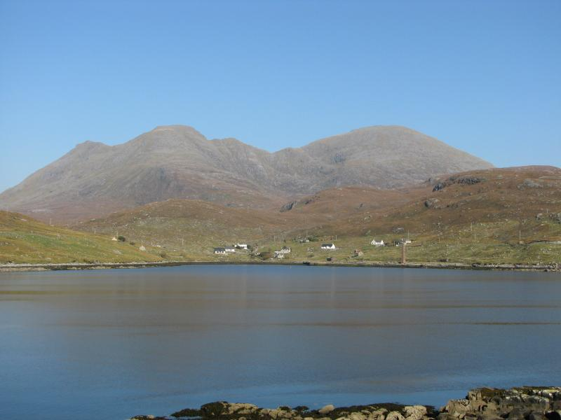 Looking across the loch towards the chalet - Seaview chalet - Isle of Harris - rentals