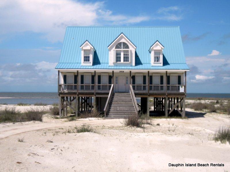 Relaxation- Large, Bayfront Home yet just across the street from the Gulf Beach, too! - Image 1 - Dauphin Island - rentals