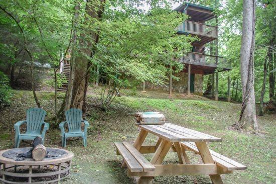 OUR FAVORITE PLACE*CREEK FRONTAGE~2 BR~2 BA~SAT TV~PRIVATE HOT TUB~GAS GRILL~GAS LOG FIREPLACE~KING BED IN MASTER SUITE~PET FRIENDLY~ONLY $99/NIGHT! - Image 1 - Blue Ridge - rentals