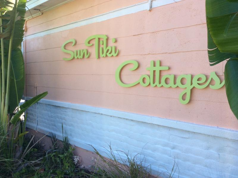 new street signage - SunTiki cottages:w/pool one house off the beach! - Indian Rocks Beach - rentals