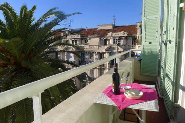 Balcony with beautiful view over the park and palm trees in Nice - AMBASSADOR PALACE AP2095 - Nice - rentals