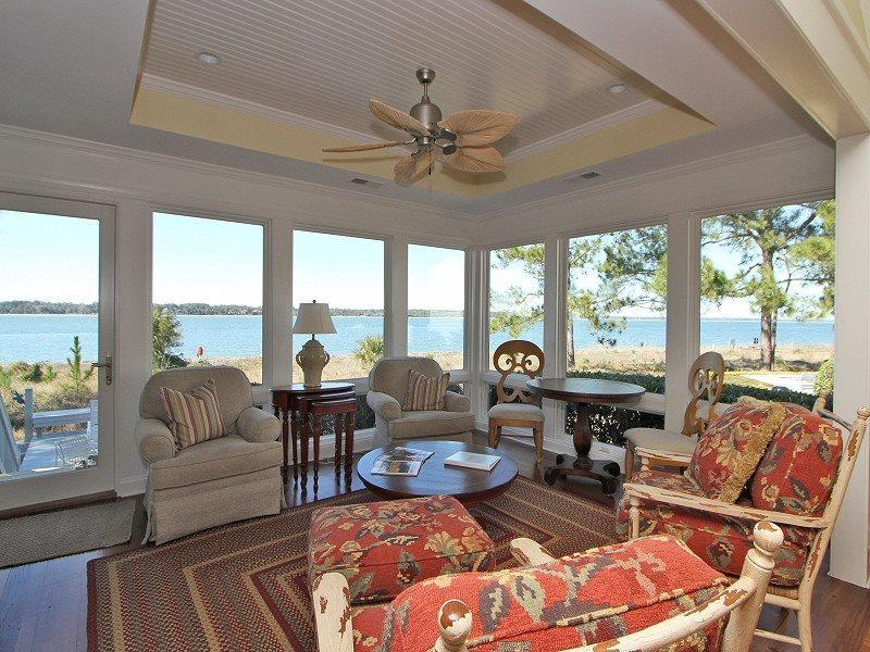 Beautiful Sun Room with Ocean Views at 7 Lands End Way - 7 Lands End Way - Sea Pines - rentals