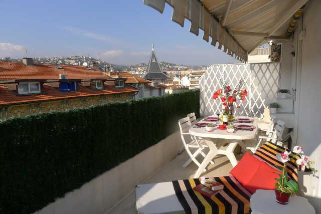 Wonderful terrace with view over the roofs of Nice - TERRASSE MUSICIENS AP3018 - Nice - rentals