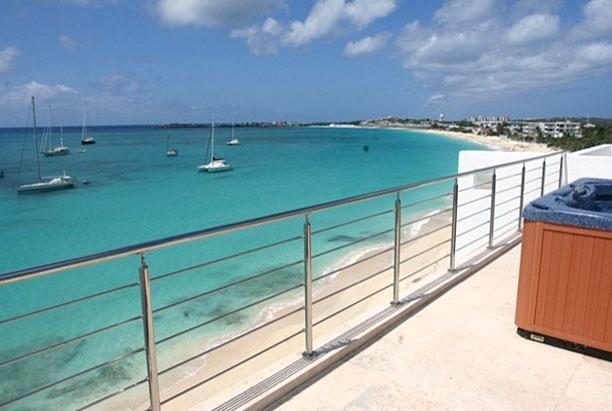 St. Martin Villa 184 Located Directly On Beautiful Simpson Bay Beach! - Image 1 - Simpson Bay - rentals