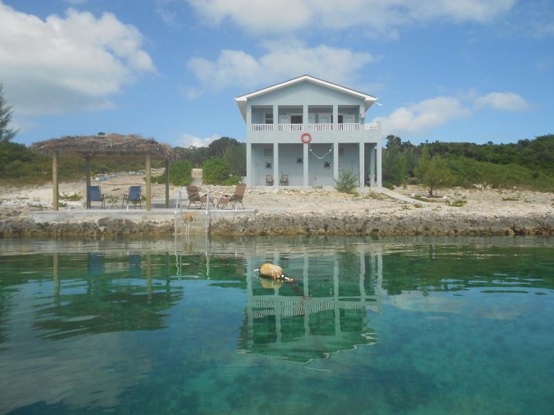 Front of house from sea - Caribbean Blue - Romantic Seclusion on the Sea - Governor's Harbour - rentals