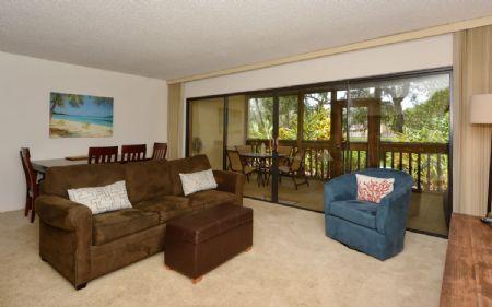 Living & Dining Area - Firethorn 712 - Siesta Key - rentals
