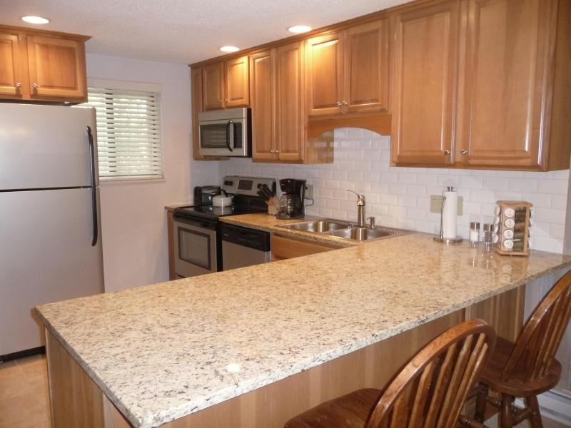 Remodeled Kitchen with Granite Counter Tops - 2 Bedroom End Unit at Beaver Village-Views, Pool, Hot Tubs - Winter Park - rentals