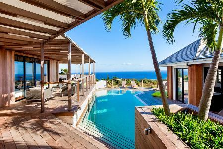 On  Vitet hillside, chic Soleimane villa with 360° ocean views & pool - Image 1 - Vitet - rentals