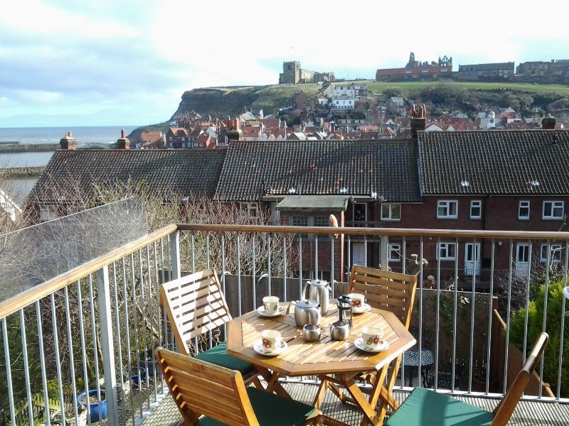 View from balcony - Balcony cottage, Whitby - Whitby - rentals