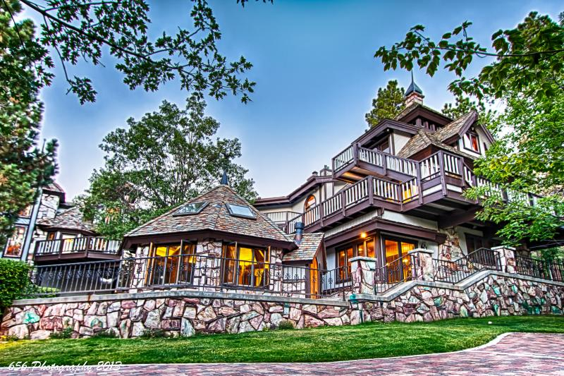 Back View - Edgewood Castle 15,000sf 5 star luxury Sleeps 24! - Big Bear Lake - rentals