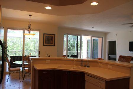 Open Kitchen - Spacious 3 bedroom condo in Quiet, Relaxing and Private Complex - Marco Island - rentals