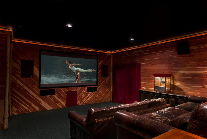 "110"" movie screen with popcorn maker - A Touch of Luxury Cabin - Lake Lure - rentals"