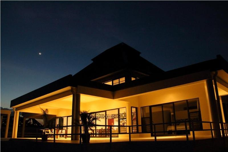 Night view from pool deck - Luxury 4 Bedroom Villa Private Infinity Pool/Beach - Nadi - rentals