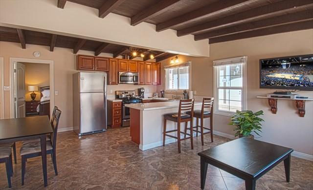 Inside photo showing open floor plan - 106 A 28th Street - Lower 1 Bedroom 1 Bath - Newport Beach - rentals