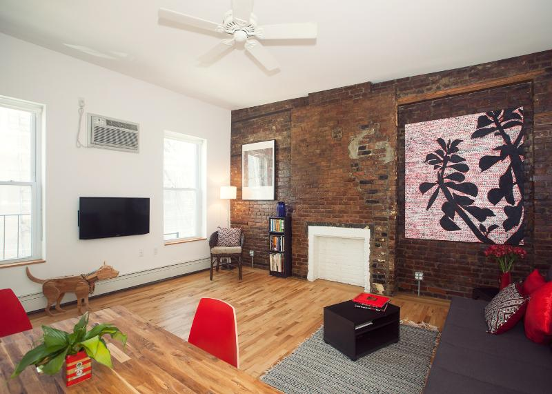 Open floor plan of living area/ dinning area - #1 by Lonely Planet-Color/Style/Flair: Skylit Loft - New York City - rentals