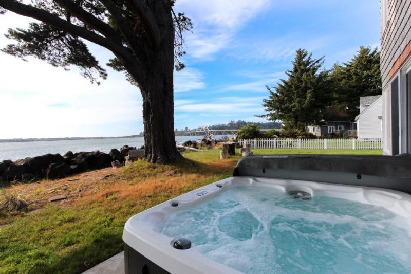 Riverfront beach house w/classic decor, hot tub - ocean views! - Image 1 - Waldport - rentals