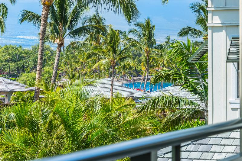 Left view from Patio - Kolea Condo 9E-Partial Ocean Views-newly renovated - Waikoloa - rentals