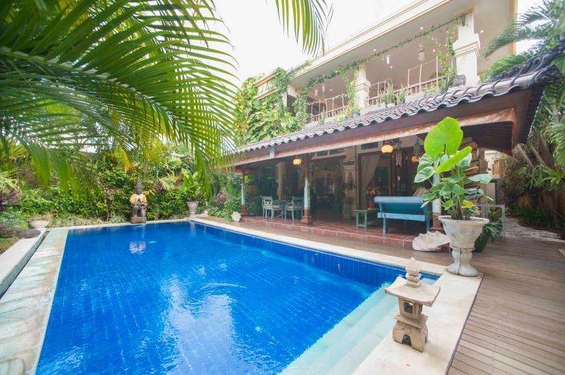 The main villa from poolside - 4 bedroom villa Kaja Seminyak - Seminyak - rentals