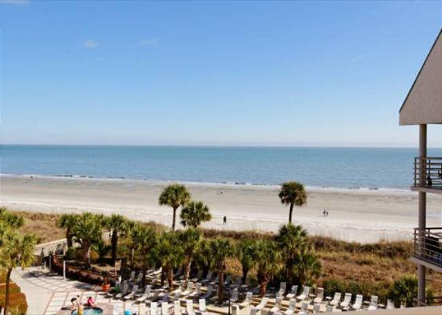 """Balcony View - """"Wow Factor"""" Newly Renovated 2BR/2BA Villa with Outstanding Oceanfront Views - Hilton Head - rentals"""
