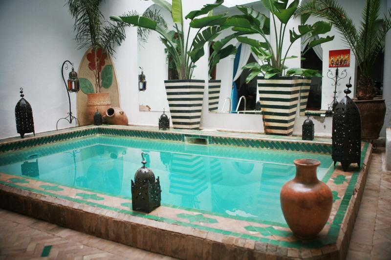 Central swimming pool - Central Located Riad El Warda - Fam El Hisn - rentals